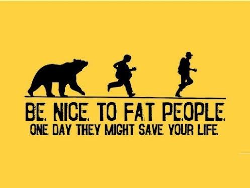 Будьте добры к толстякам!