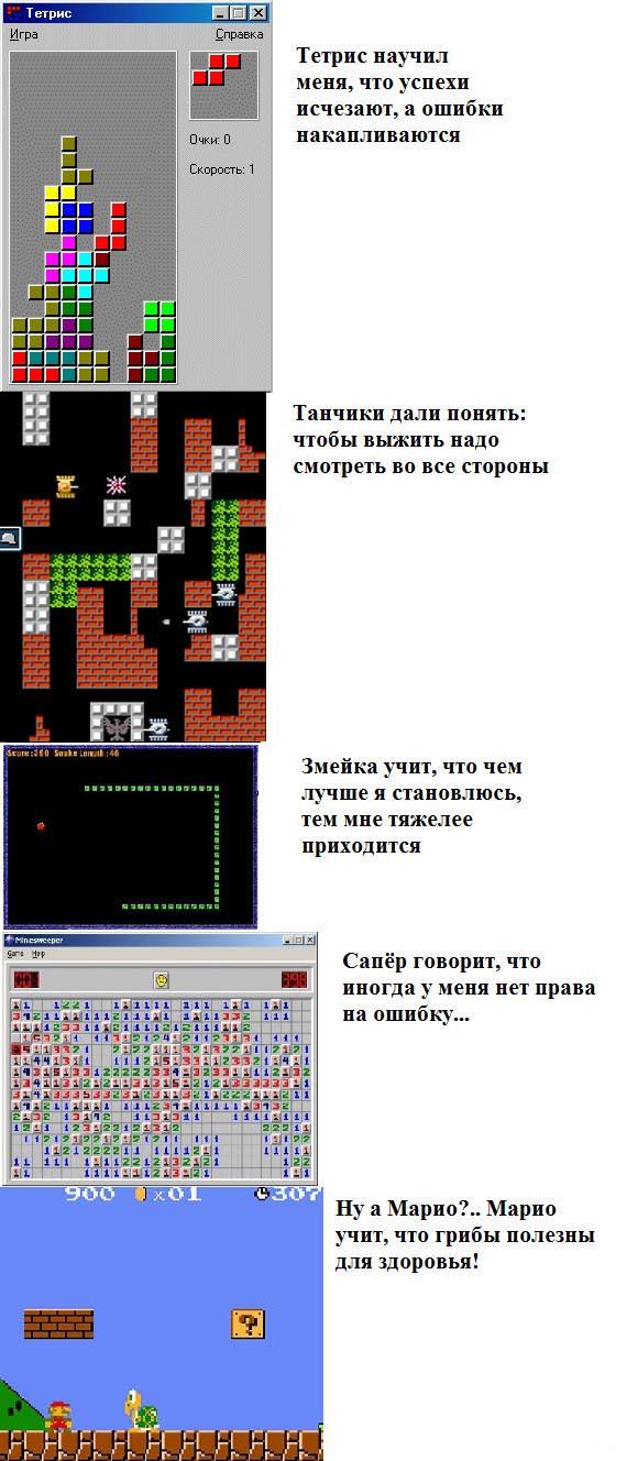 Чему научили старые игры