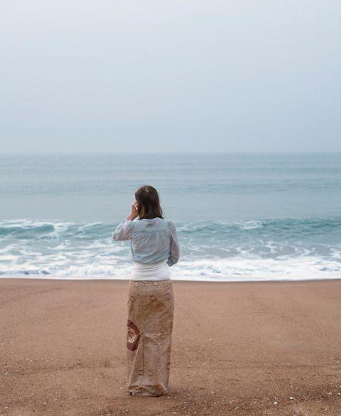 Девушка и море - маскировка