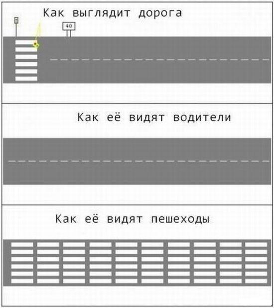 Дорога с разных точек зрения