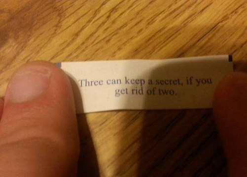 Трое могут хранить секрет, если избавиться от двух