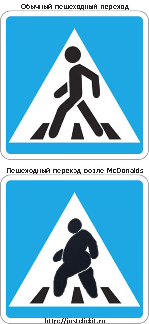 Пешеходный переход возле McDonalds