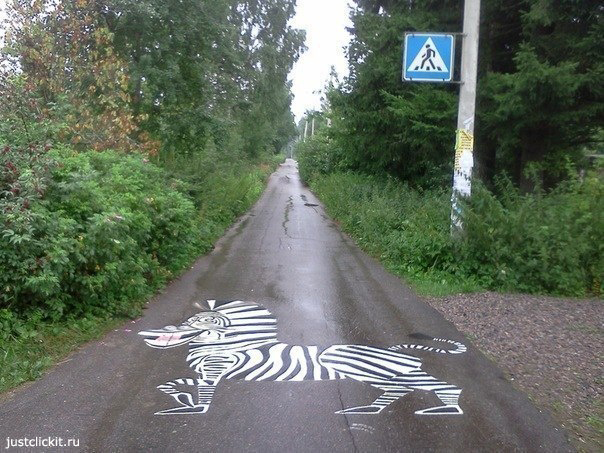 Новая разметка для пешеходного перехода