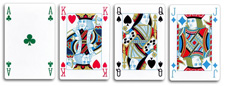 четырехцветные игральные карты  4 color playing cards