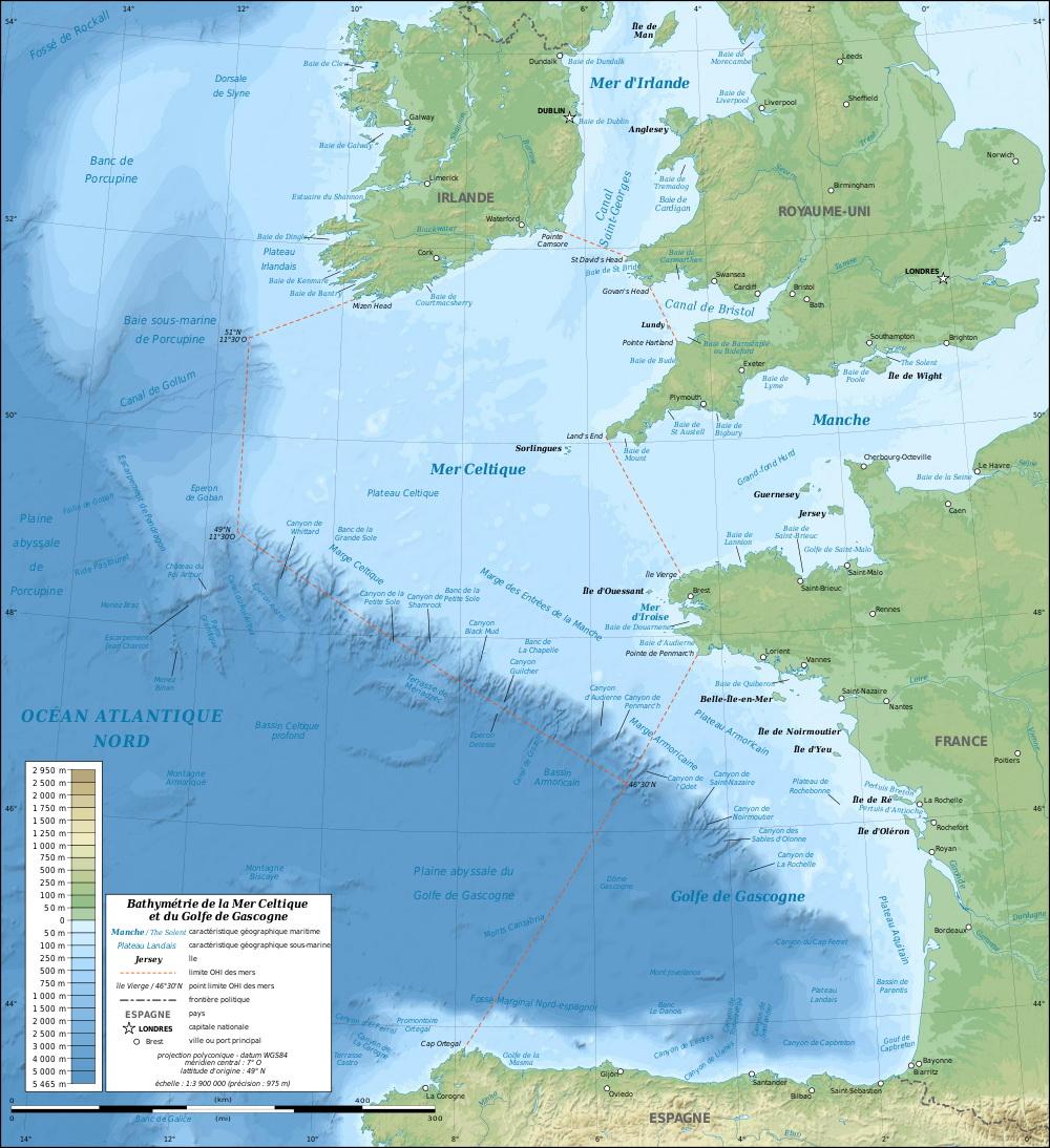 Кельтское море celtic sea является морем