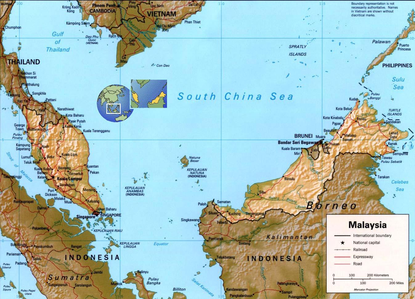 Южно китайское море карты морей