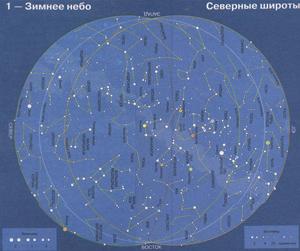 Карта зимнего неба северные широты