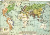Карта мира 18 века