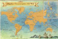 Карта кругосветного плавания Магеллана