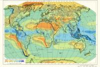 Карта выпадения осадков в мире