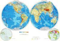 Карта полушарий мира