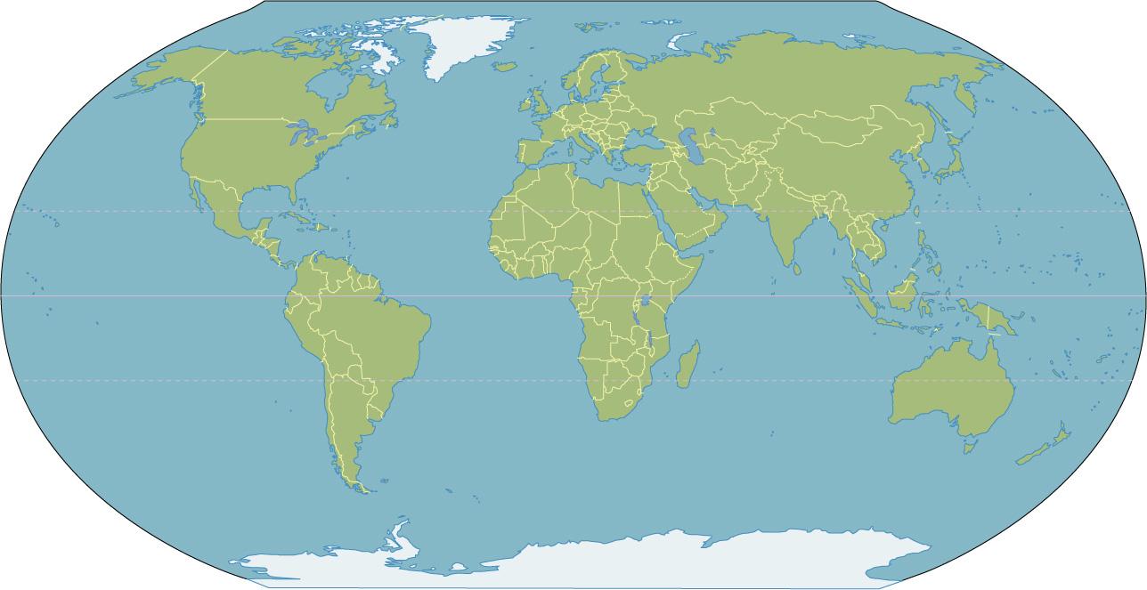 контурную карту мира скачать